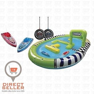 Speed RC Radio Boat Racing Remote Control Watercraft Kids Pool Toys Track New