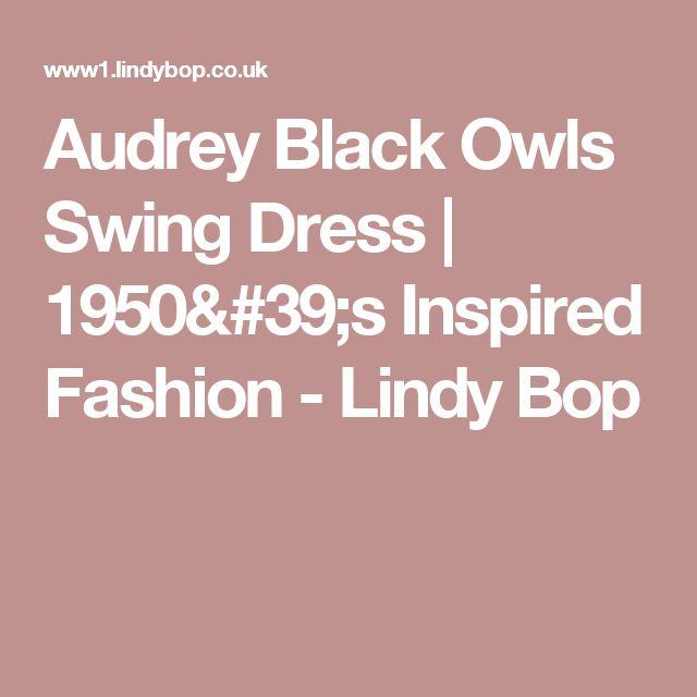 Audrey Black Owls Swing Dress | 1950's Inspired Fashion - Lindy Bop
