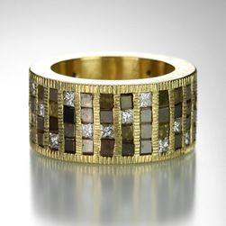 Diamond Cube Mosic Ring,Todd Reed
