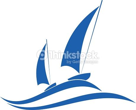 Clipart vectoriel : Sailing or yachting emblem