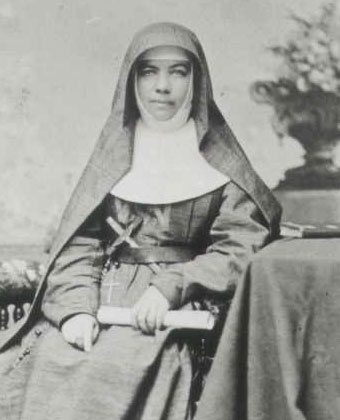 Mother Mary MacKillop.  The circle of her habit and the catholic church and education in Australia