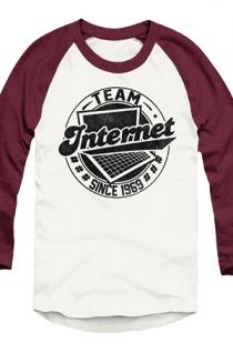 #TeamInternet Raglan (Truffle) T-Shirt - Tyler Oakley T-Shirts - Official Online Store on District Lines