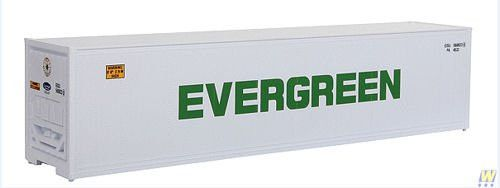 HO Scale 40' Reefer Container - Assembled -- Evergreen
