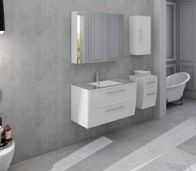 Produktdetails Produktdetails In Folgenden Farben Erhaltlich Korpus Front Weiss Fronten In Hochglanz Badezimmer Spiegelschrank Badezimmer Set Badmobel Set