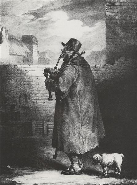 El jugador de la gaita, 1821 - Theodore Gericault