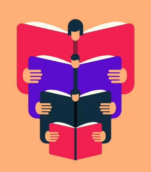 Cada libro nos lleva a otras lecturas (ilustración de Magoz)