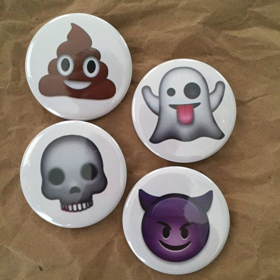 Classic emoji buttons by HypotheticalButtonCo on Etsy