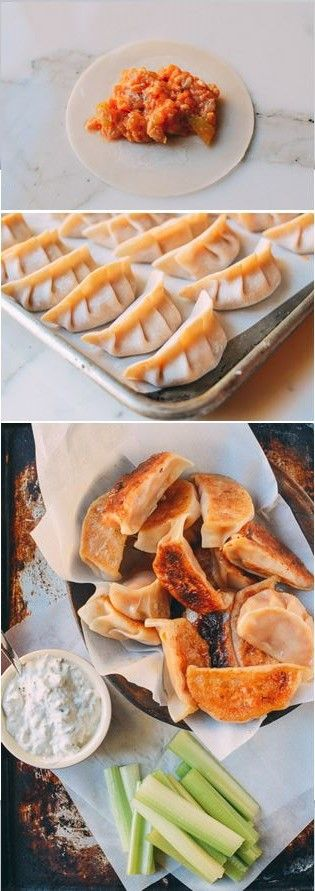 Buffalo chicken Potstickers recipe by the Woks of Life