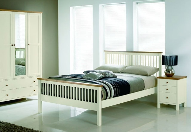Two-tone Wooden Bed Frame