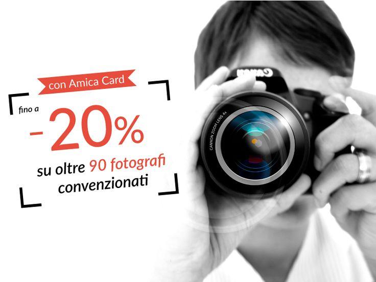 Amica Card scatta per te #sconti che non saranno mai fuori fuoco. La mania dei #selfie ha contagiato proprio tutti, bisogna ammetterlo. Ma per immortalare i momenti più importanti della tua vita o dei tuoi cari, affidati a veri esperti! Risparmia fino al 20% su un servizio fotografico professionale scegliendo tra 90 #fotografi convenzionati in tutta Italia. #AmicaCard #foto #matrimoni #convenzioni