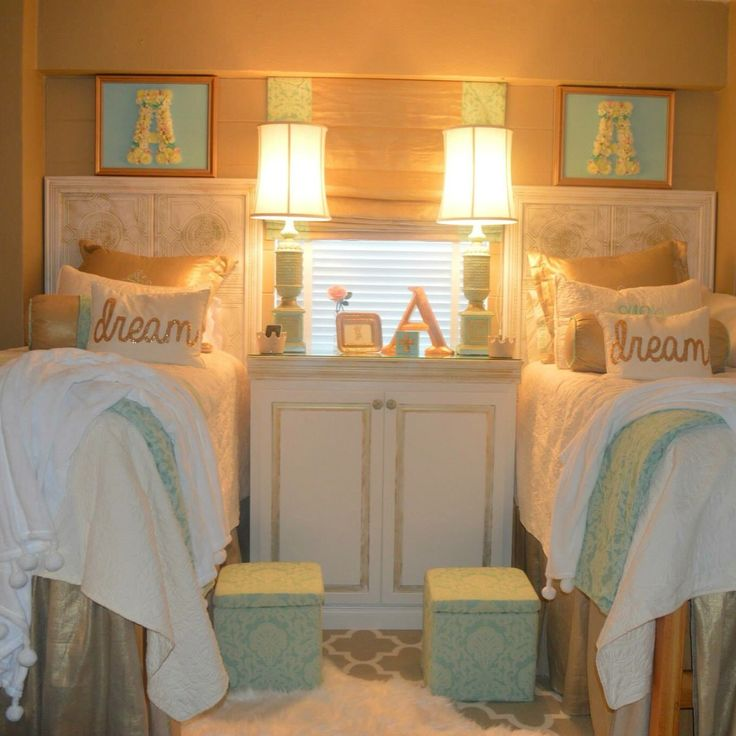 Dreamy gold ole miss dorm rooms!