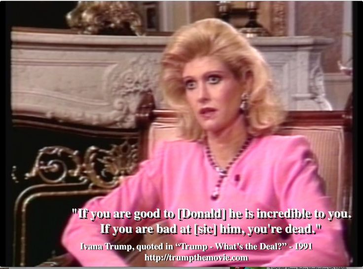 "Ivana Trump on Donald Trump: ""If you are good to him he is incredible to you. If you are bad at him, you're dead."" www.trumpthemovie.com #NeverTrump"