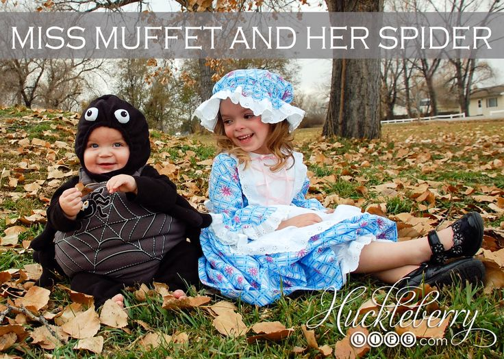 MISS MUFFET AND HER SPIDER. DIY HALLOWEEN COSTUME.