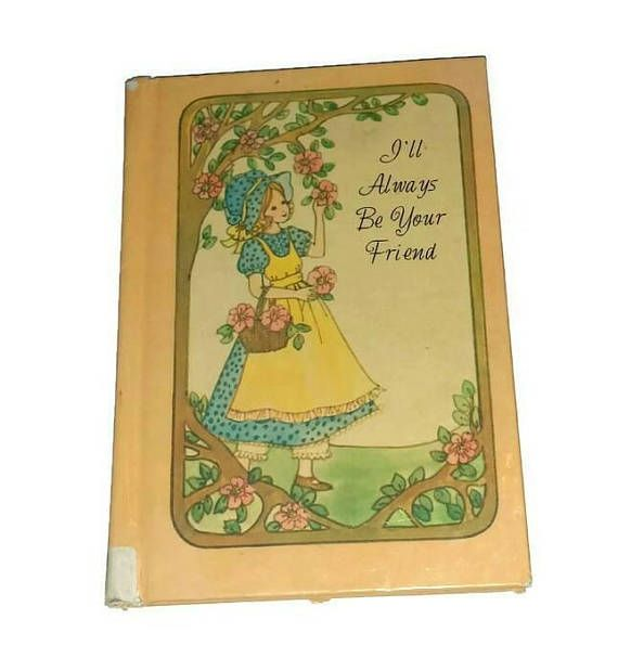 Check out this item in my Etsy shop https://www.etsy.com/ca/listing/549396400/cute-vintage-holly-hobbie-style-book-70s