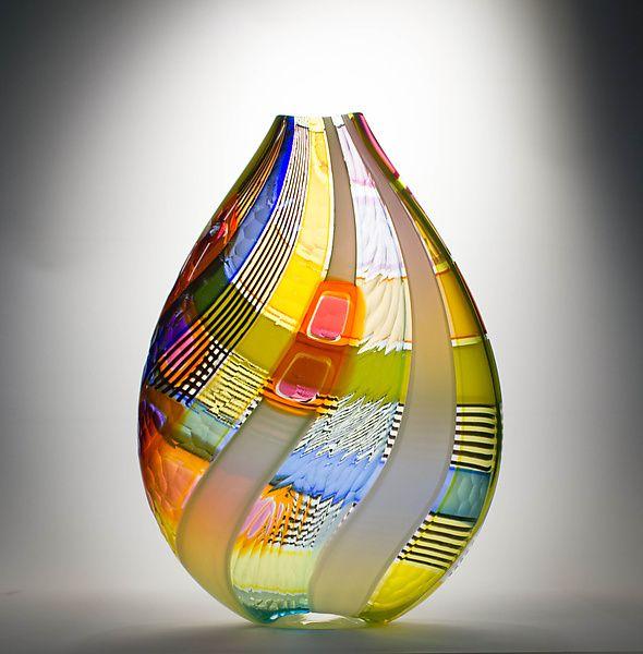 Osri Vase in Orange: Jeffrey P'an: Art Glass Vase | Artful Home