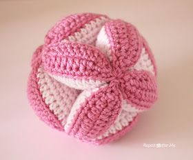 Repeat Crafter Me: Crochet Baby Clutch Ball (and Petals to Picots Pattern Giveaway!)