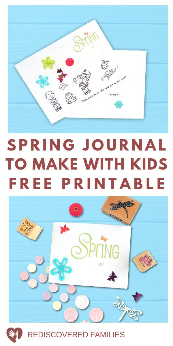 How To Make A Mini Notebook With Kids Spring Project Journal