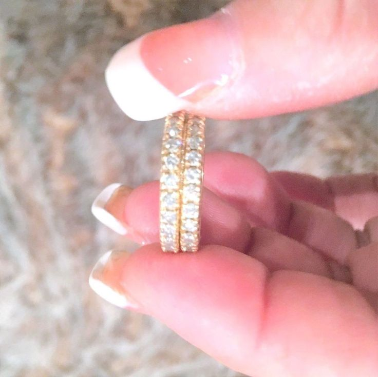 $5358 Appraisal 2.02 TCW G/VS Genuine Diamonds 14K Gold Eternity Ring Bands  #Handmade #BandStackableAnniversaryWedding