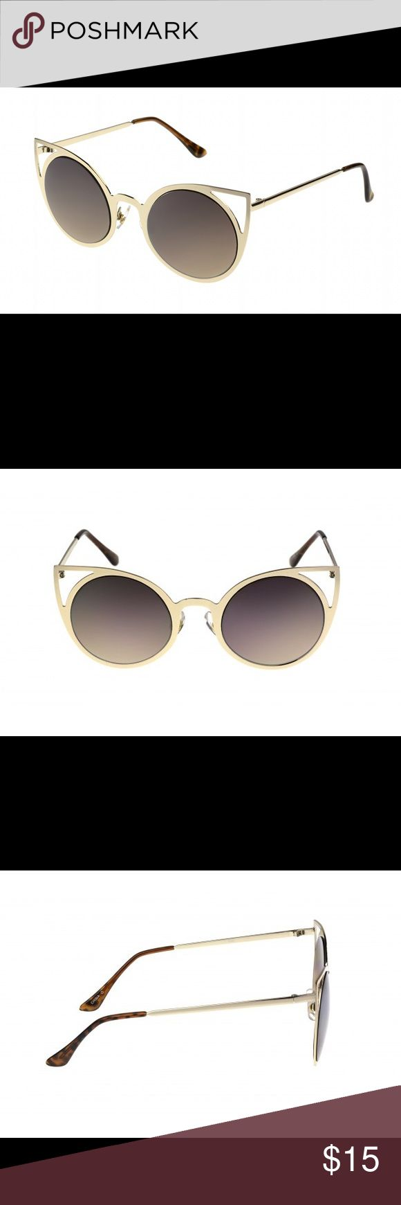 FOSTER GRANT NWOT CAT EYE CUT OUT SUNNIES Very cute and you get the quality of FOSTER GRANT sunglasses. Absolutely never worn. Only tried on for a split second. Foster Grant Accessories Glasses