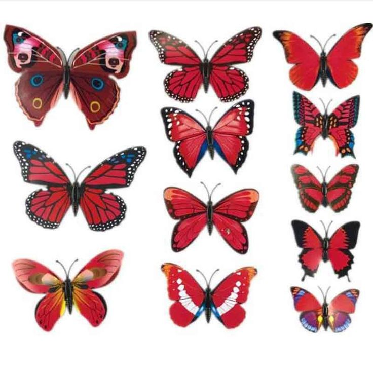 12pcs/lot 3D PVC Wall Stickers Magnet Butterflies DIY Wall Sticker Home Decor Poster Kids Rooms Wall Decoration
