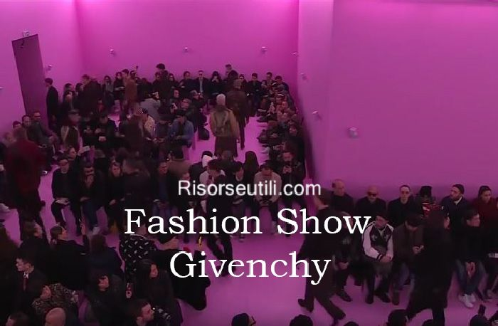 Fashion show Givenchy fall winter 2016 2017 menswear