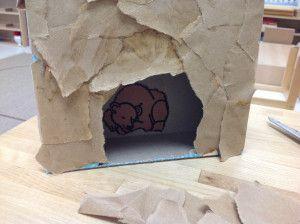 Hibernating Bear in a Cave craft