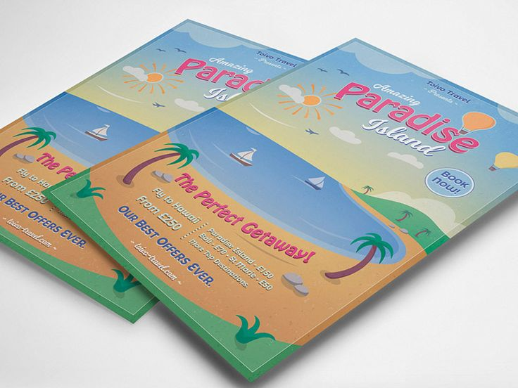 Tropical Paradise Flyer Template - buy it here: https://graphicriver.net/item/tropical-paradise-flyer/19747785