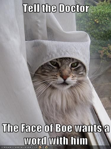 Tell the Doctor  The Face of Boe wants a word with him