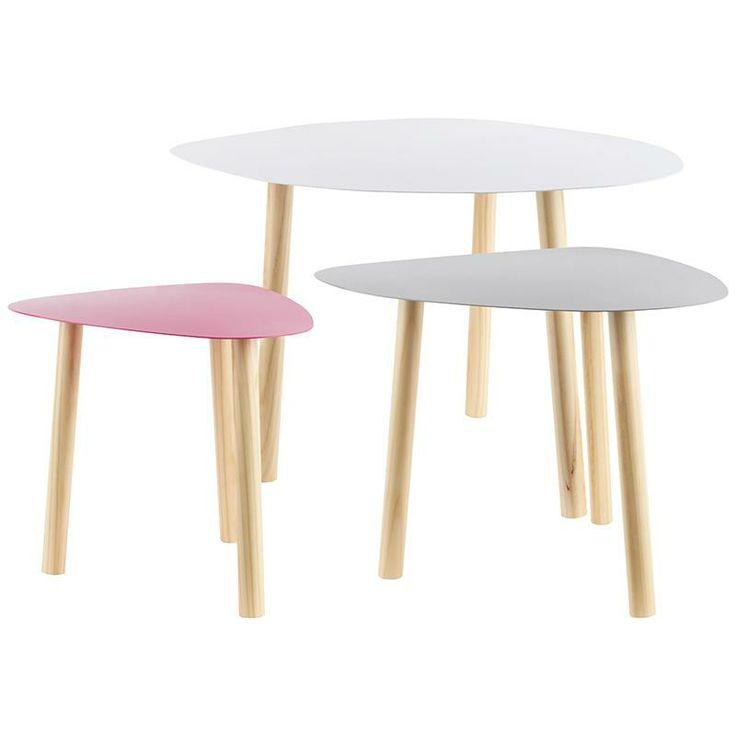 Metallic coffee table in three colors! www.inart.com