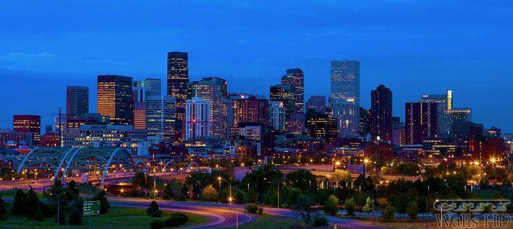 Stadt Download Fotos mit spektakulärem Blick auf die Denver Perspektive. Die Stadt westlich von Amerika Colorado.
