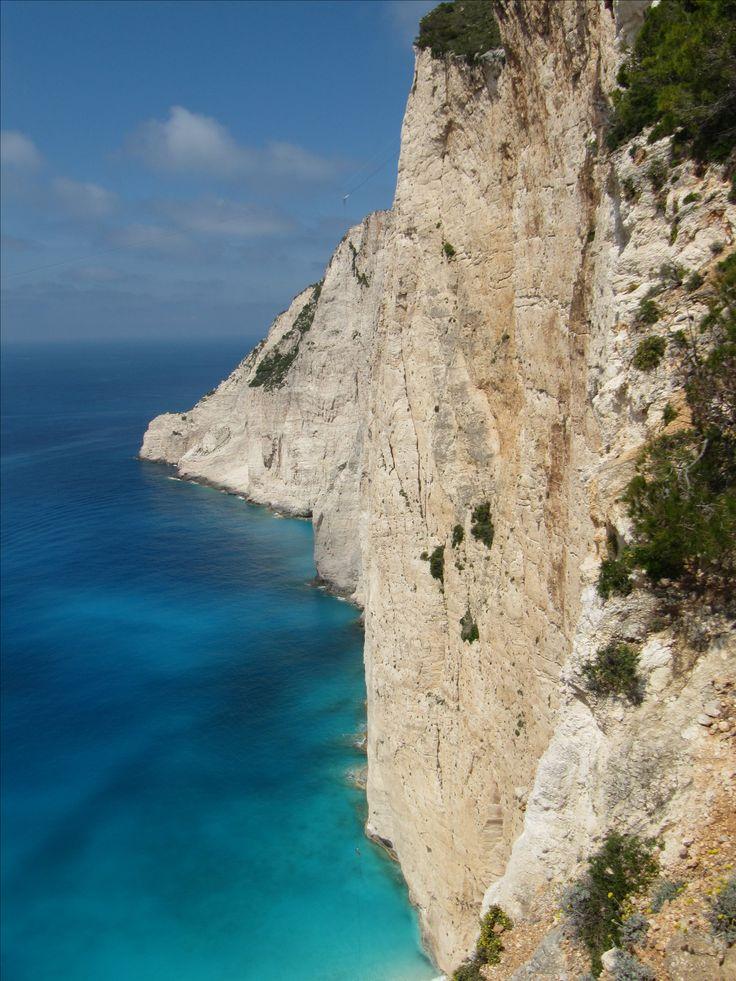 Amazing steep rocks at Navagio beach #Zakinthos