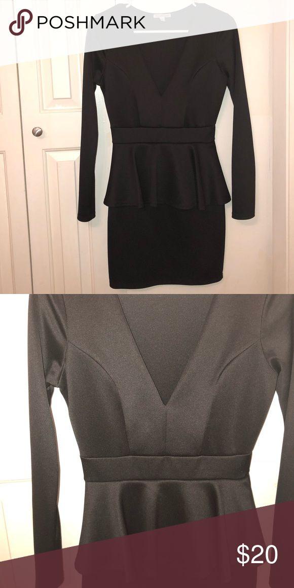 Black peplum dress Dress worn once to a funeral Dresses Mini