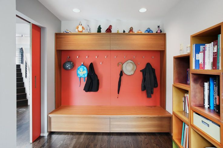 sized mudroom designs entry midcentury with recessed lighting modern indoor pots and planters