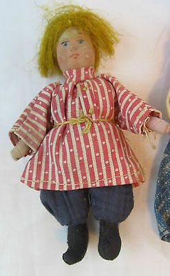 ANTIQUE-PAIR-OF-RUSSIAN-COMPOSITION-AND-CLOTH-DOLL