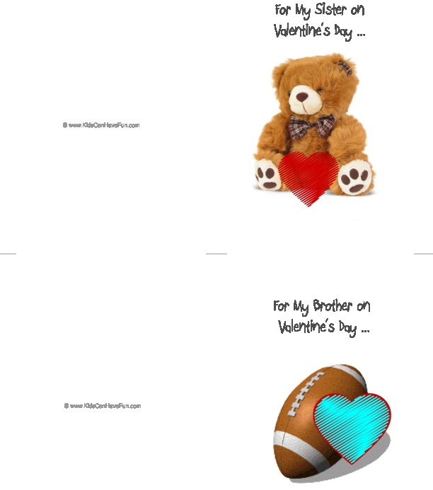 valentine's day esl cards