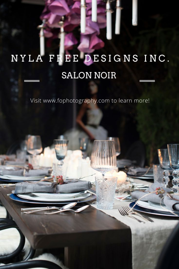 """Something tells us that coffee lovers will adore this wonderful Monogram Dinner By Design installation by Nyla Free Designs Inc.! Named """"Salon Noir"""" and full of many wedding and event ideas."""