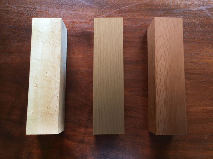 Maple, Birch, Cherry