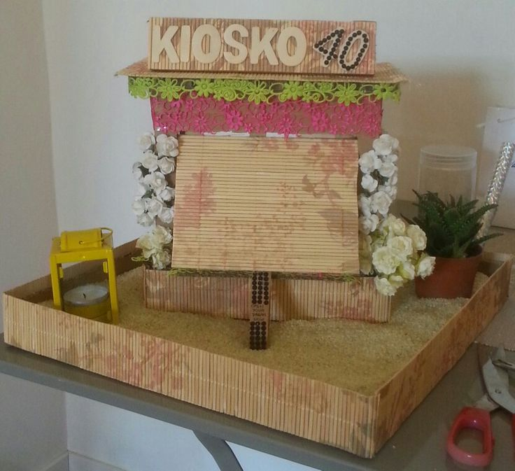 Present surprise box handmade front