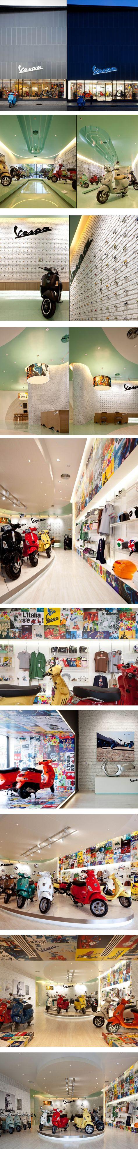 Vespa Gallery by Supermachine Studio, Bangkok – Thailand.