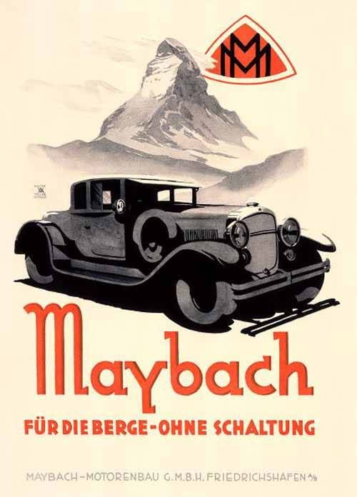 Vintage Advertising Posters | Mercedes Cars | Circa 1920