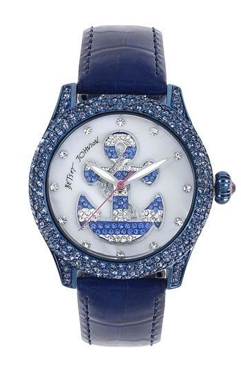 Betsey Johnson Anchor Dial Pavé Crystal Watch available at #Nordstrom
