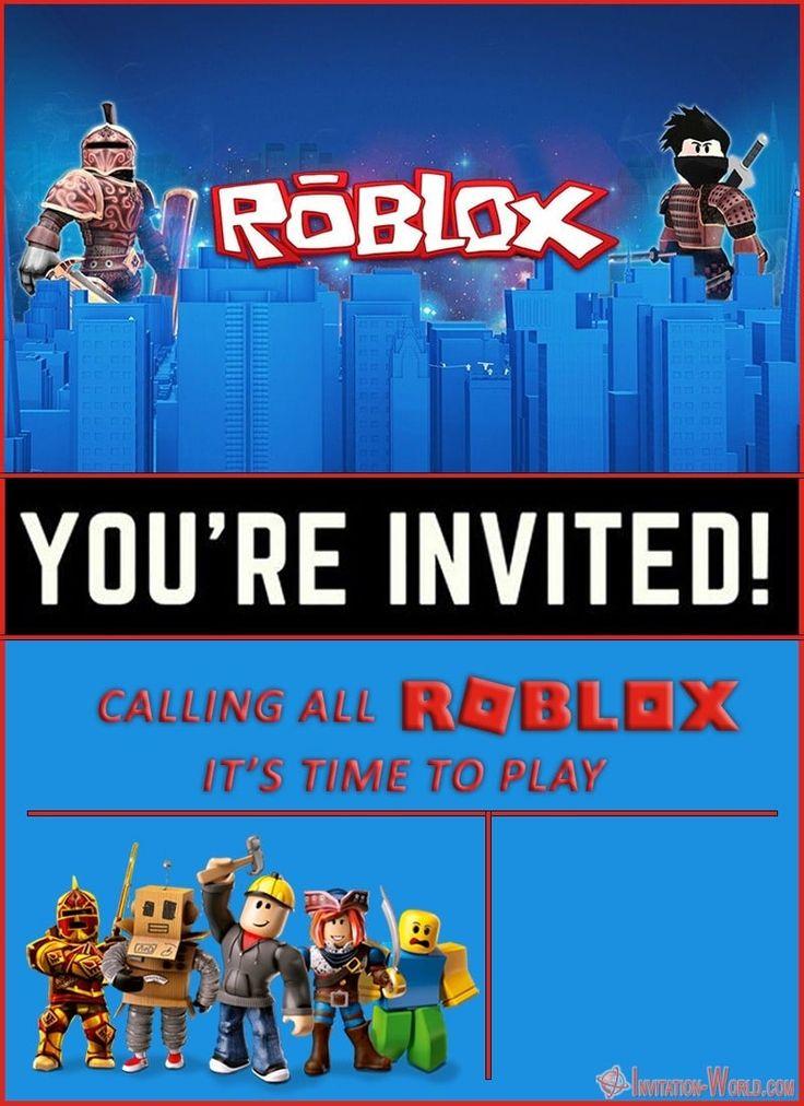 Free Online Roblox Birthday Invitation - Invitation-World ...
