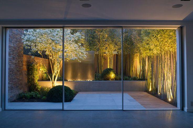 Garden fence lighting ideas landscape contemporary with tree lighting garden lighting garden lighting