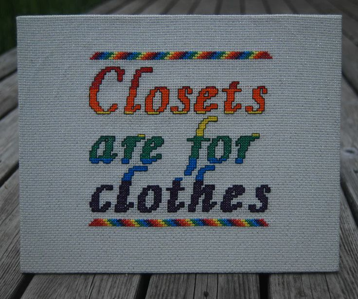 Lgbt cross stitch gay pride