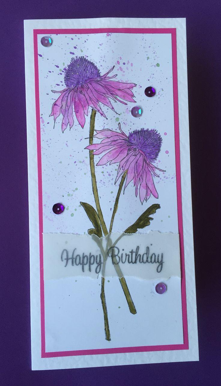 Tim Holtz flower garden, just love these stamps