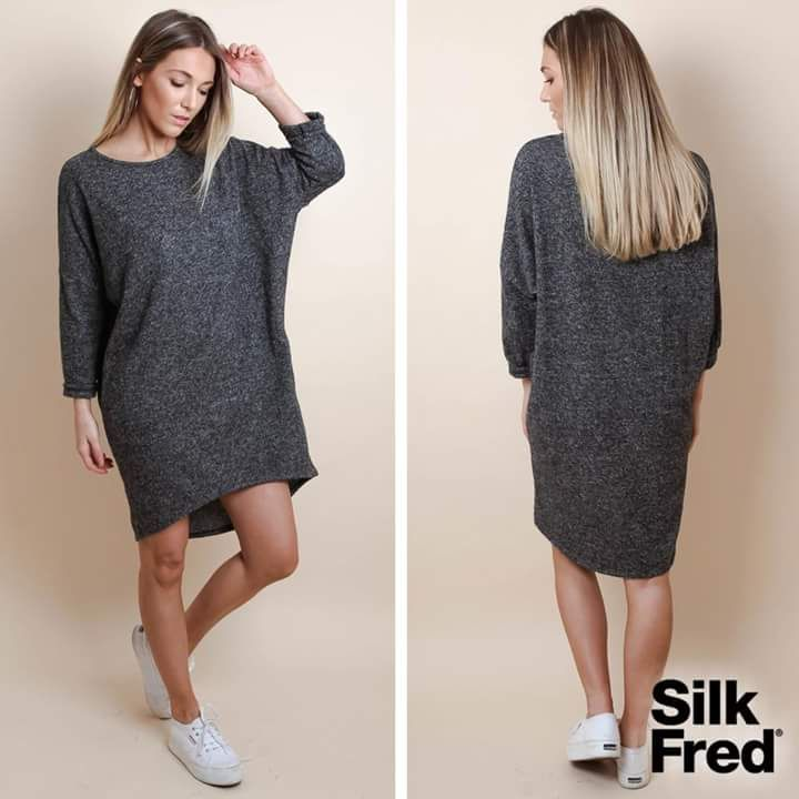 Silk Fred Gray Midi Dress