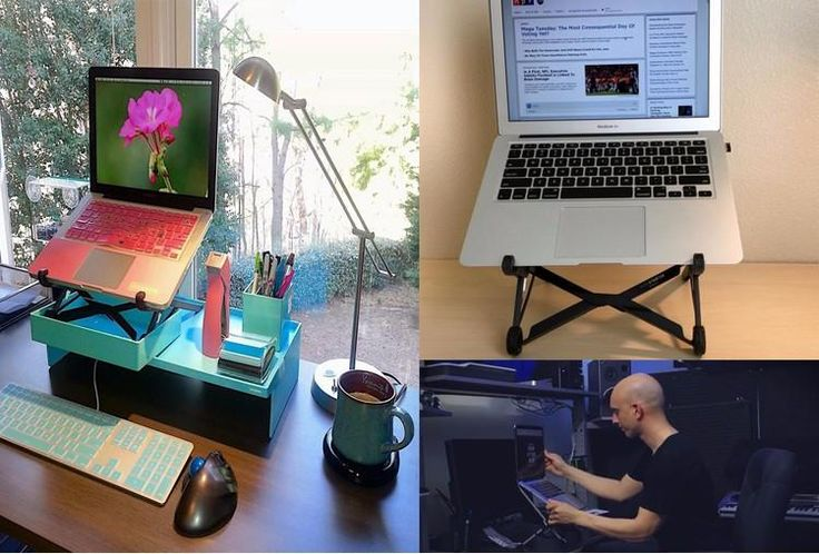 Foldable Nexstand laptop lapdesk table pc stand support 11.6Inch or Larger size protection of cervical vertebra enhanced nylon - 10 MINUS