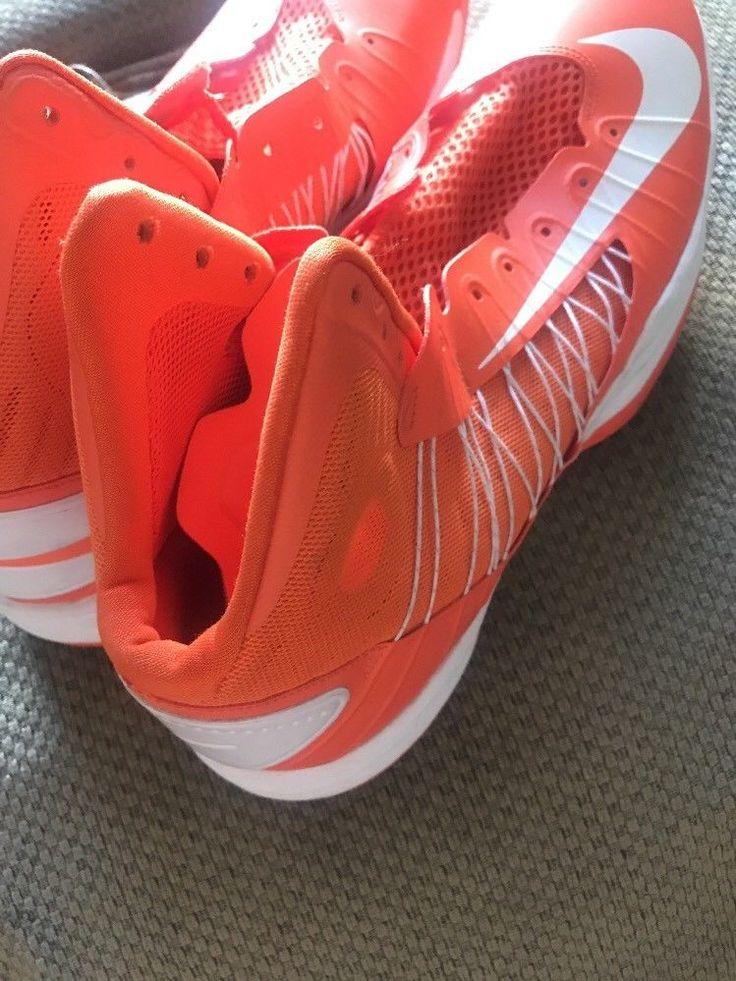 Nike Hyperdunk Lunarlon Size 16 Orange + White Shoes Basketball Sneakers #Nike