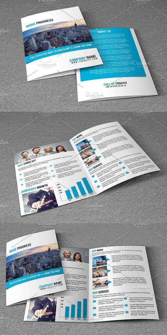 Corporate Brochure V740 Bitriquad Fold Brochures Pinterest