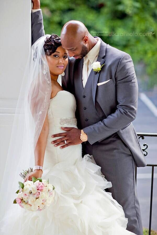 African american bride and groom